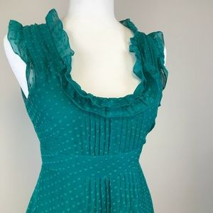 Anthro Moulinette Souers Green Dress size 2